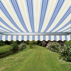 Standard Awning Blue Stripe 3m x 2.5m - Manual