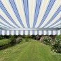 Standard Awning Blue Stripe 1.5m x 1m - Manual