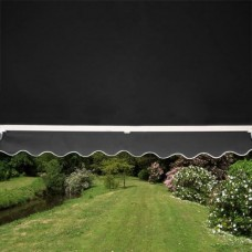 Half Cassette Awning Charcoal 3.5m x 2.5m - Manual