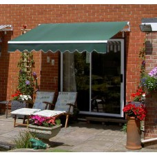 Standard Awning Plain Green 3m x 2.5m - Manual