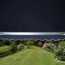 Standard Awning Plain Dark Blue 3.5m x 2.5m - Manual