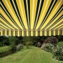 Half Cassette XL Awning Yellow and Grey Stripe 5m x 3m - Electric