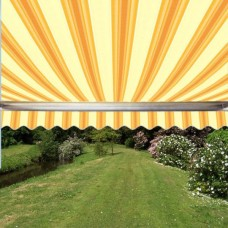 Half Cassette Awning Yellow Stripe 3m x 2.5m - Manual